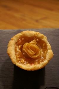 Apfel-Mürbteig-Rose