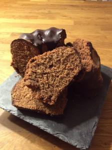 Schokoladenkuchen mit Orange und Lebkuchengewürz