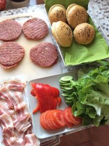 Grilltest mit Burger