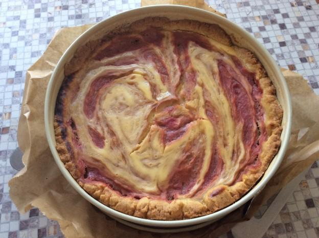 Rhabarber -Käse-Kuchen