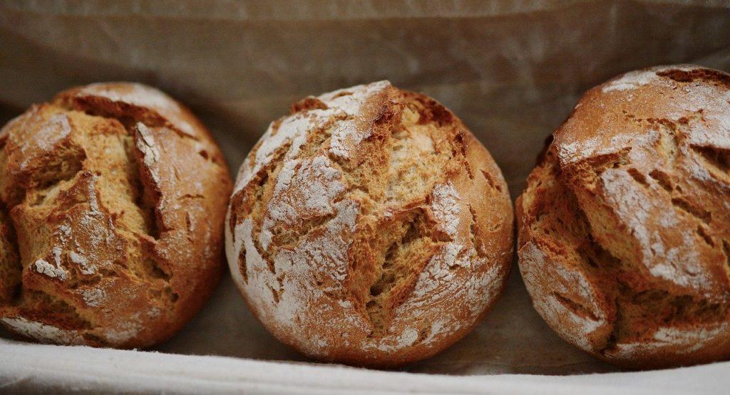 bread, roll, rye